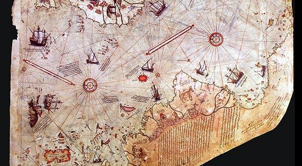 карта пири рейса дворец топкапы в стамбуле
