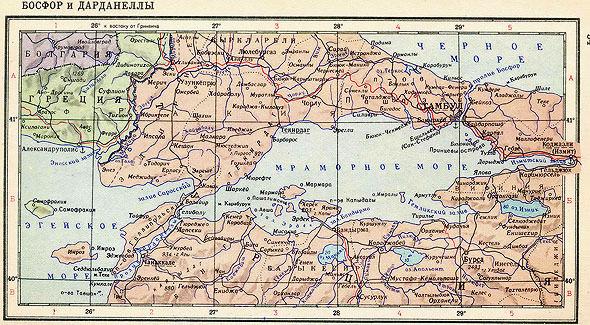 пролив босфор на карте мира