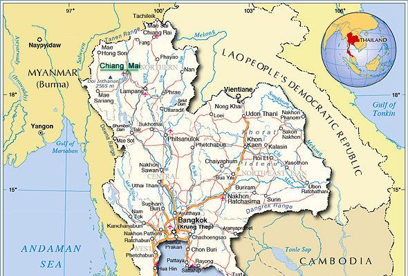 чианг май таиланд на карте