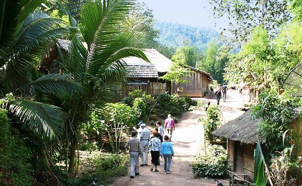 горные пемена тайланда селение
