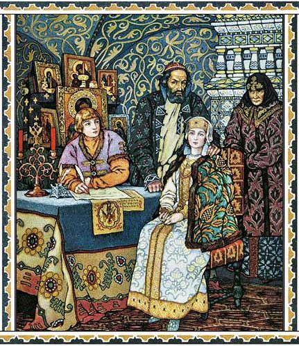 борис годунов с женой сыном федором и дочерью ксенией