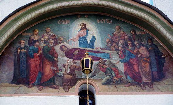 успенский собор троице сергиевой лавры роспись успенье богородицы