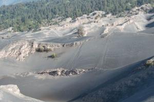 инопланетный пейзаж кальдеры