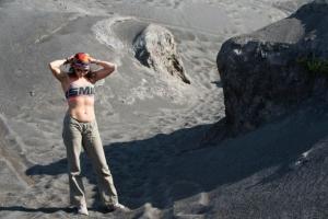 вулкан на яве окрестности как в пустыне