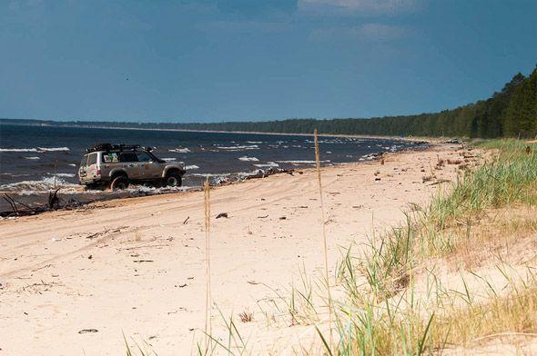 по пляжам онежского озера
