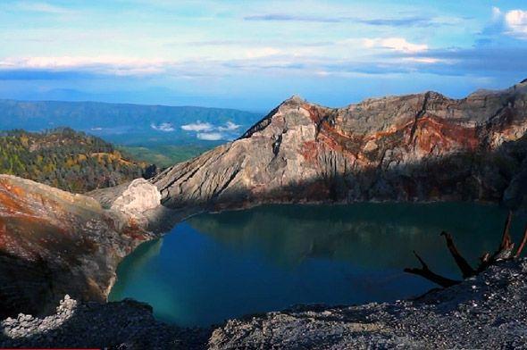 озеро кавах иджен чудо света