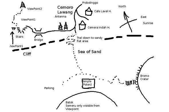 схема кальдеры тенгер
