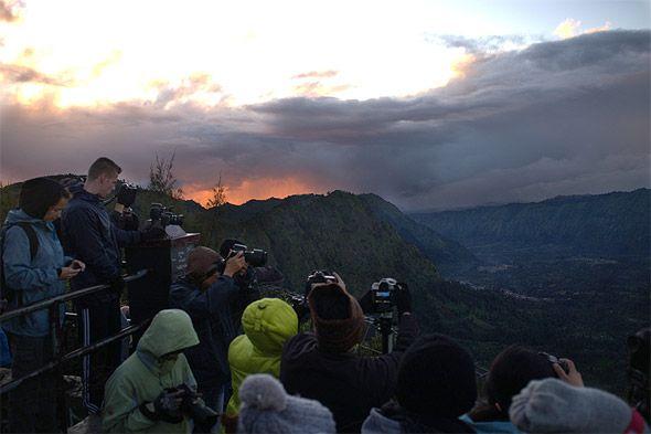 вулкан бромо утро на обзорной площадке