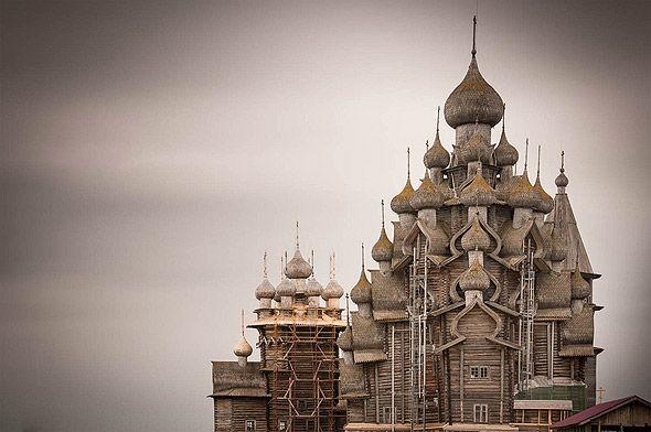четырехярусный храм кижи преображенская церковь