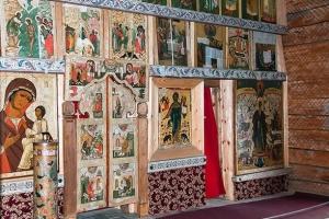 vnutrennee ubranstvo zimnej cerkvi kizhi