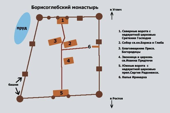 план борисоглебского монастыря