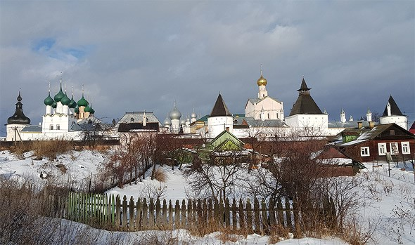 вид на ростов с озеро неро ярославская область