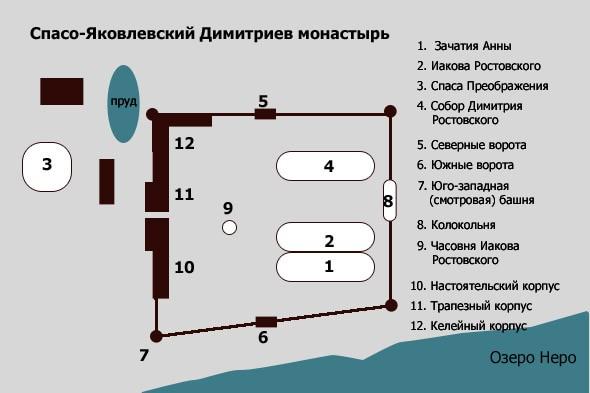 схема спасо-яковлевского димитриева монастыря