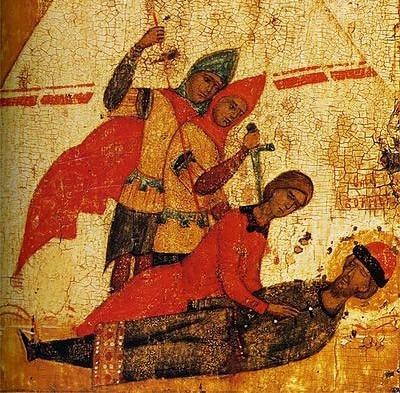 икона русские святые борис и глеб