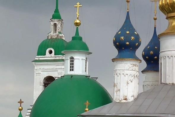 барочные и купольные завершения храмов спасо-яковлевского монастыря в ростове
