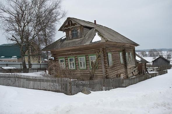 старинный дом с мезонином