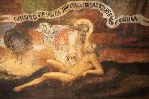 росписи на тему жития адама и евы
