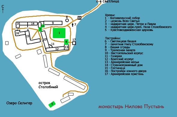 монастырь нилова пустынь карта
