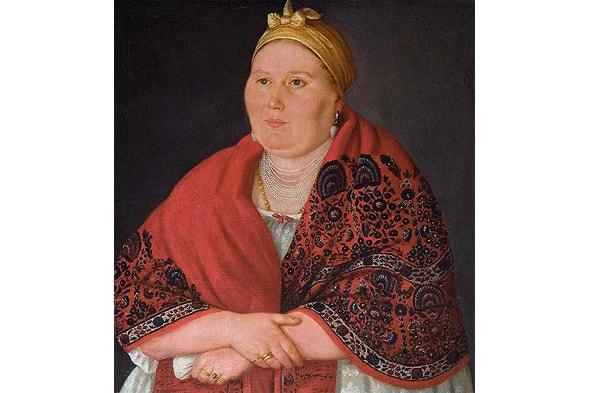 портрет купчихи из музея