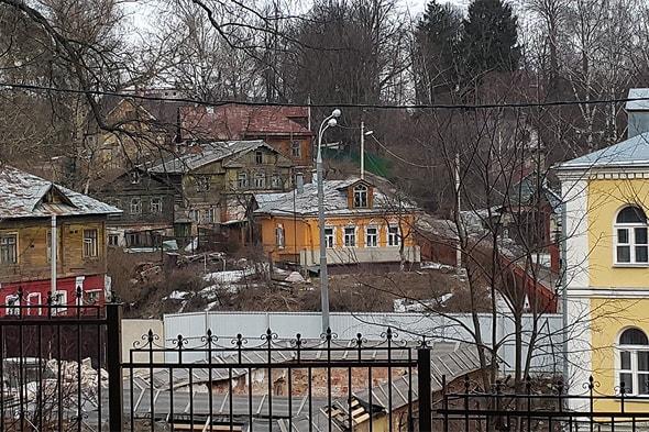 хотьково покровский монастырь вид на склоны оврага