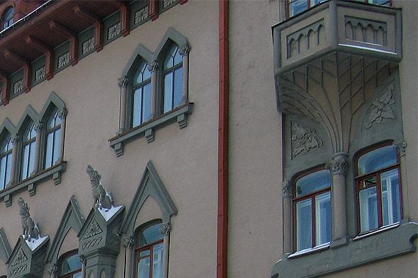 фрагмент здания саратовской консерватории