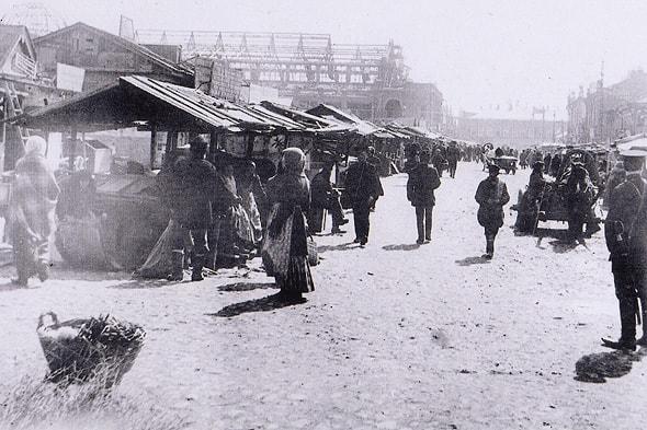 митрофаниевский базар и строящийся крытый рынок
