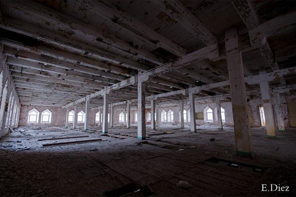 большие помещения внутри мельницы
