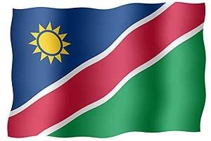 флаг африканской страны намибии