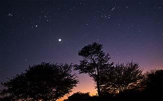 намибия африканская ночь