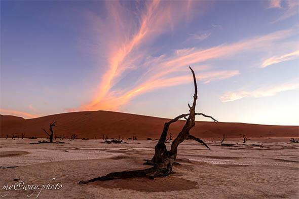 закат в мертвой долине
