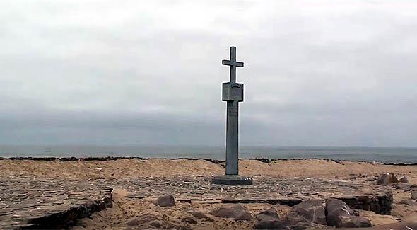 португальский каменный знак на мысе креста