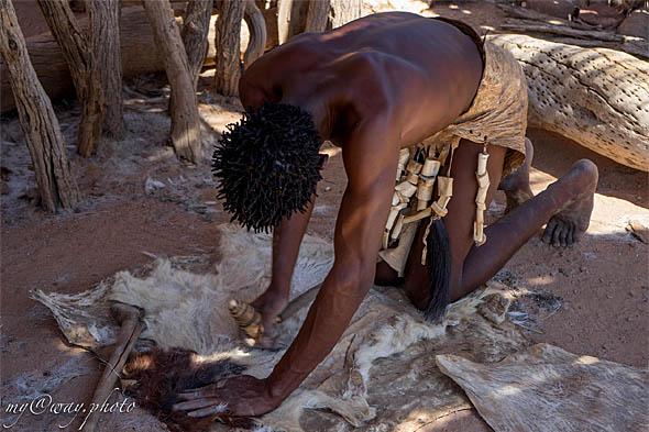 намибия народность дамара выделка шкуры