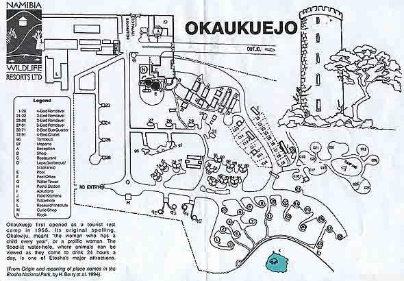 старейший туристический лагерь окаукуеджо с башней достопримечательностью
