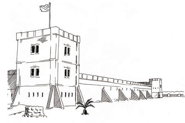 зубчатые башни военного форта намутони