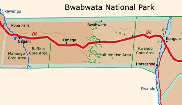 национальный парк бвабвата зоны