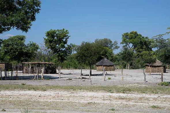 типичная современная деревня на каприви