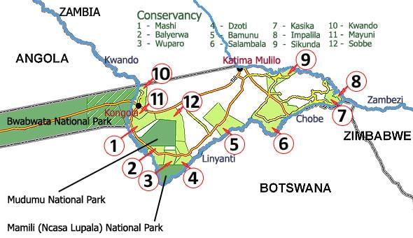 общинные консервации перемежаются с национальными парками