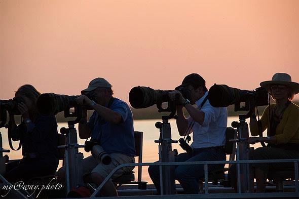 ботсвана чобе лодка оборудована специально для фотографов