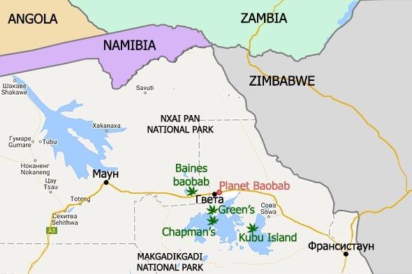 лагерь планета баобаб на карте