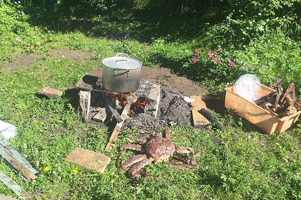 камчатский деликатес готовится