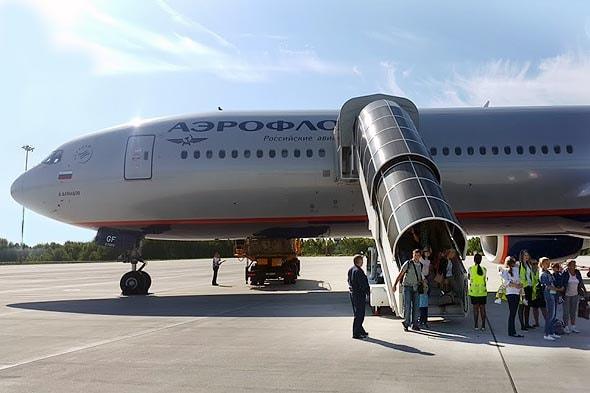 посадка в главном камчатском аэропорту