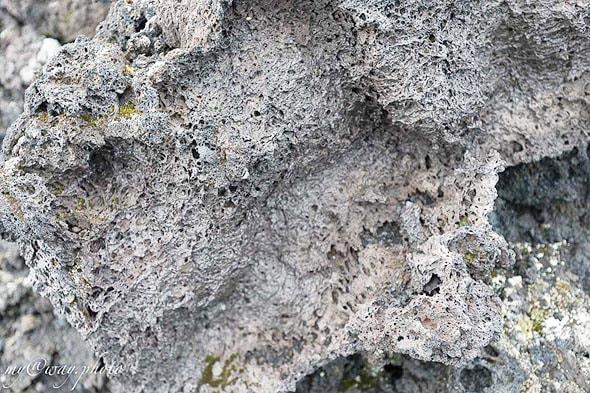 лавовая пена после остывания