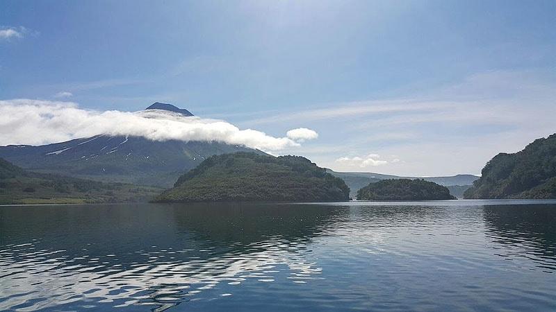курильское озеро живописный объект южно камчатского заказника