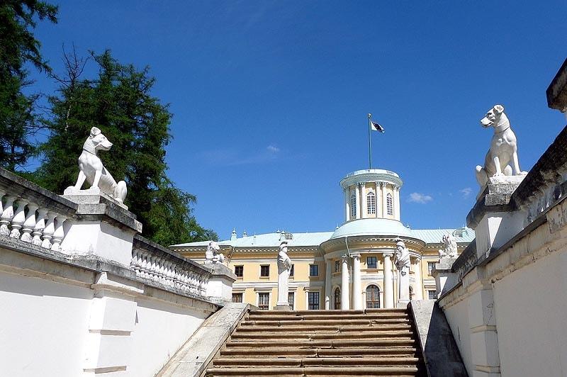 лестница в парке усадьба архангельское князей юсуповых