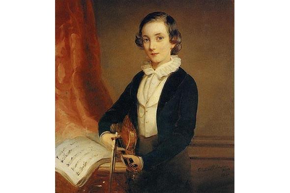 мечтательный юноша николай юсупов со скрипкой