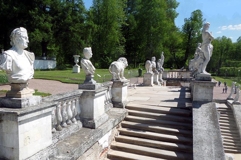 скульптуры  нижней террасы архангельское музей усадьба юсуповых
