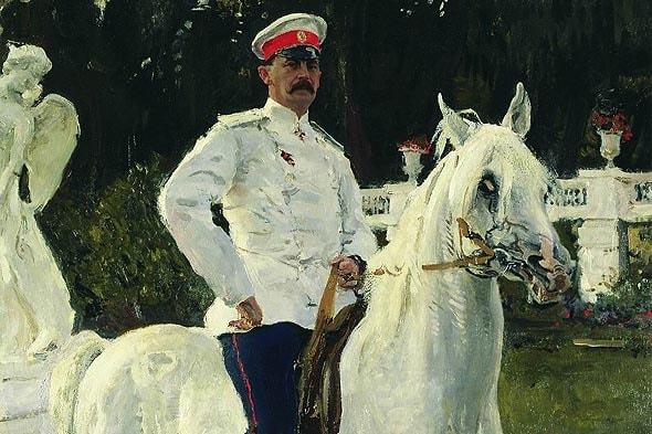 портрет Юсупова старшего на лошади