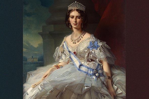 портретист винтерхальтер запечатлел на холсте молодую княгиню татьяну александровну юсупову урожденную рибопьер фрагмент портрета