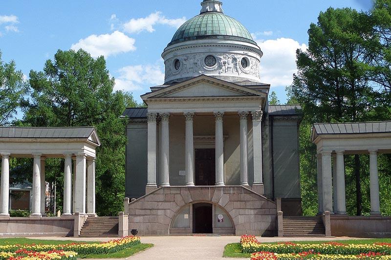 усадьба архангельское колоннада входы в верхний и нижний зал