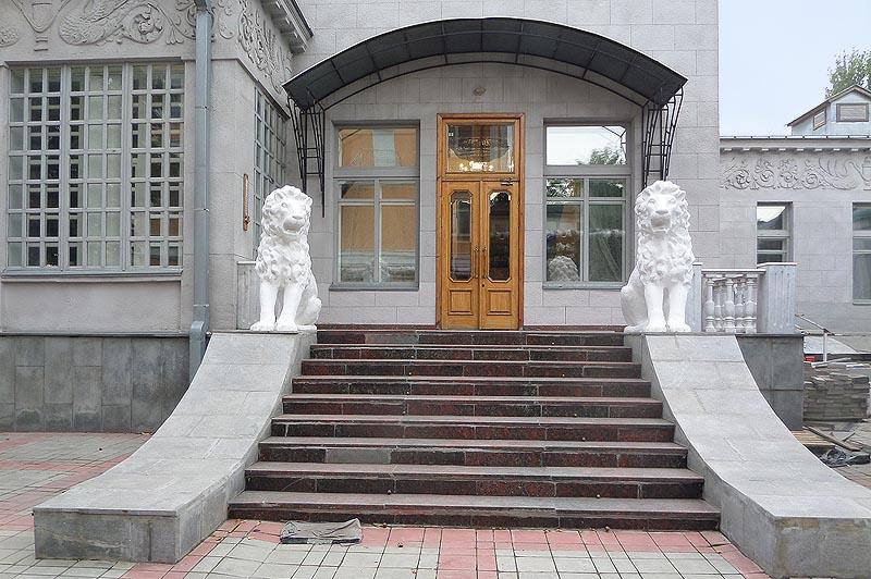 саратов особняк шмидта парадная лестница и сторожевые львы